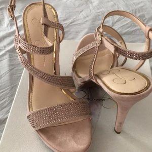 Jessica Simpson pale pink heels size 8.5